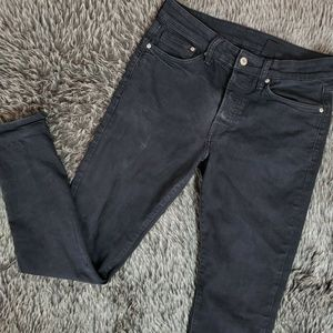 H&M Black Skinny Jeans W/ Button Fly